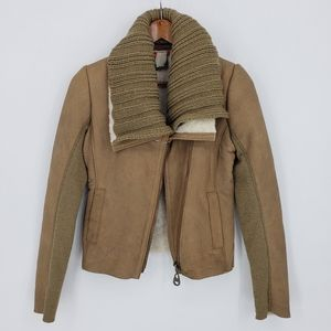 Doma Dolce De Leche Shearling Cropped Jacket